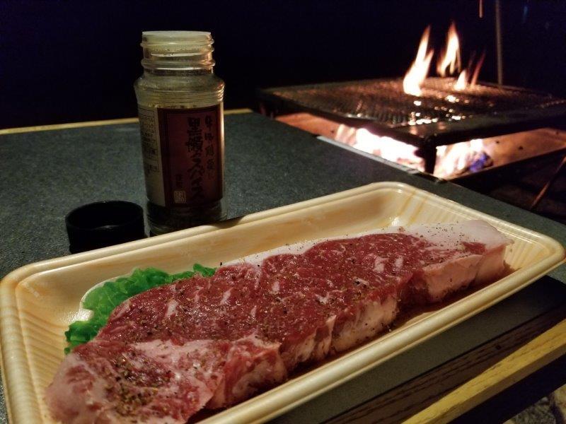 ステーキ肉と黒瀬スパイス