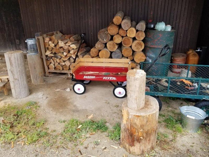 福岡県うきは市 きふねキャンプ場の薪