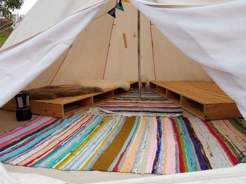 福岡県うきは市 きふねキャンプ場のティピーテント