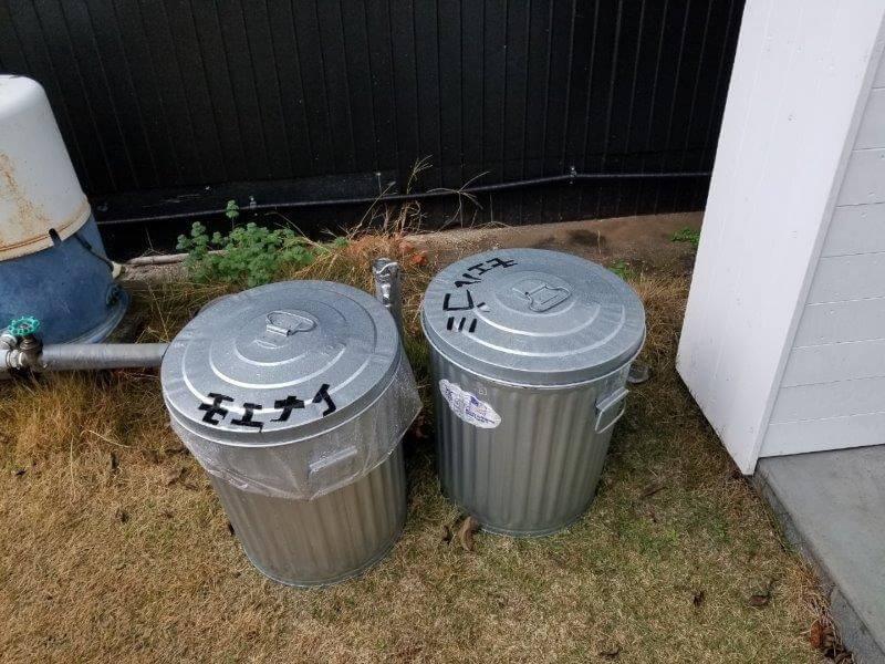 福岡県うきは市 きふねキャンプ場のゴミ箱