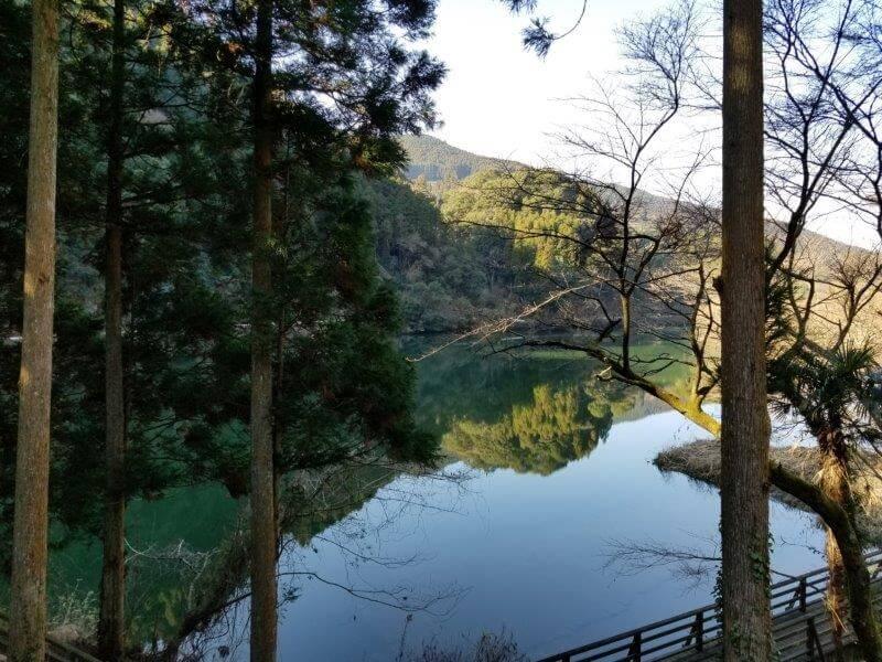 グリーンパル日向神峡 フリーサイトからの景色