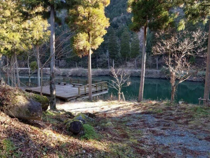 グリーンパル日向神峡 釣り桟橋