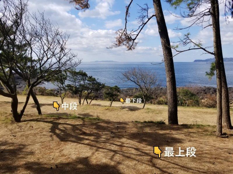 波戸岬キャンプ場フリーサイト