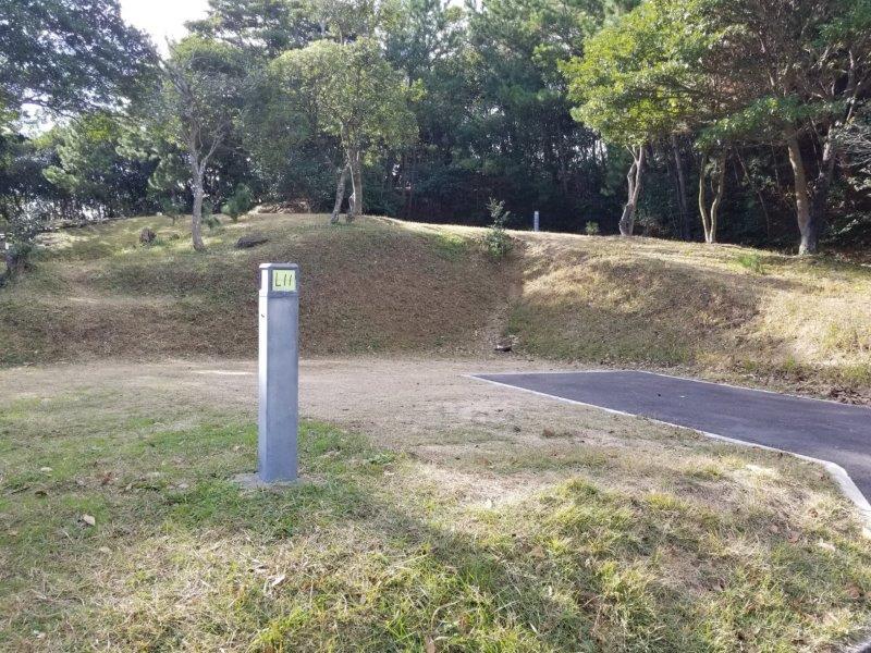 波戸岬キャンプ場オートサイトL11サイト