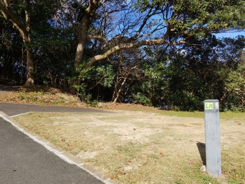波戸岬キャンプ場オートサイトL15サイト