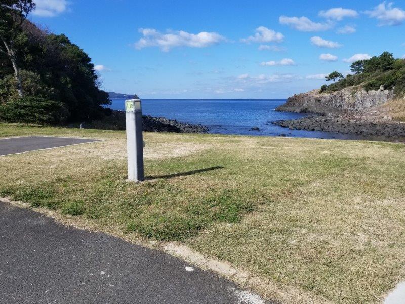 波戸岬キャンプ場オートサイトL18サイト