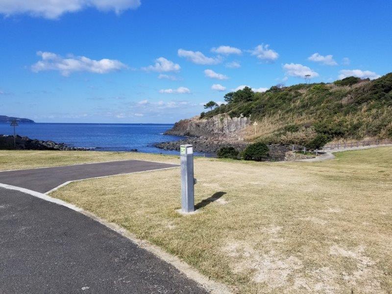 波戸岬キャンプ場オートサイトL19サイト