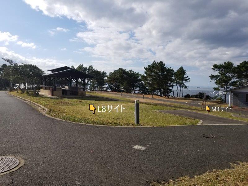 波戸岬キャンプ場オートサイトL8