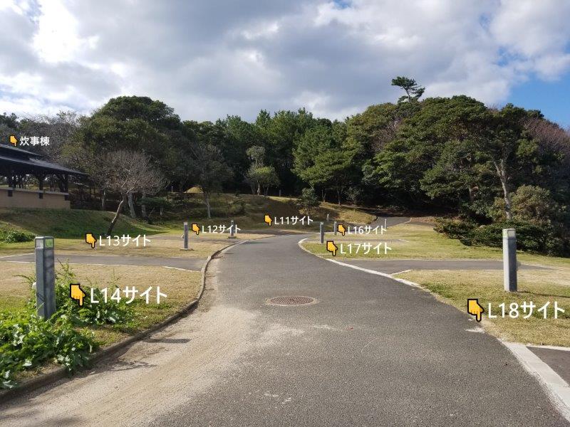 波戸岬キャンプ場オートサイトNorthエリア