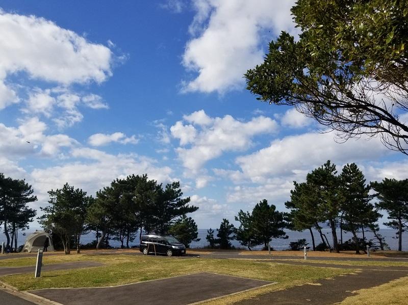 波戸岬キャンプ場オートサイトSouthエリア