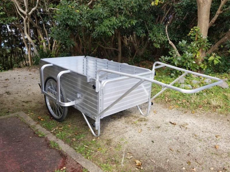 波戸岬キャンプ場の荷物運搬用台車