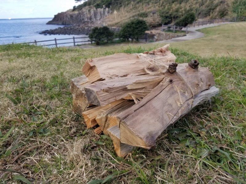 波戸岬キャンプ場の薪