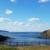 波戸岬キャンプ場から見る玄界灘