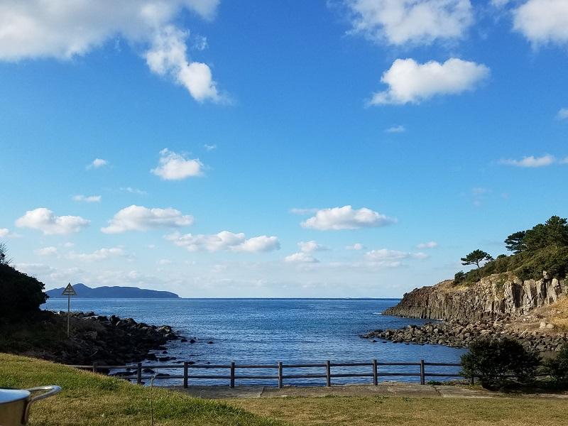 波戸岬キャンプ場から見る海の景色