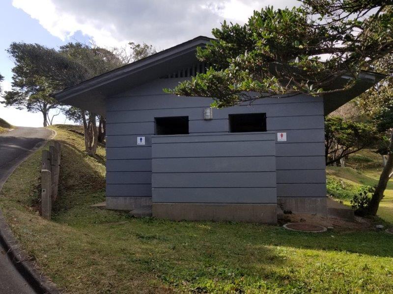 波戸岬キャンプ場のトイレ