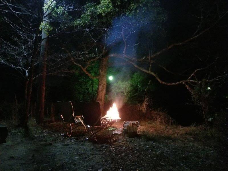 星のふるさと公園 池の山キャンプ場で焚き火