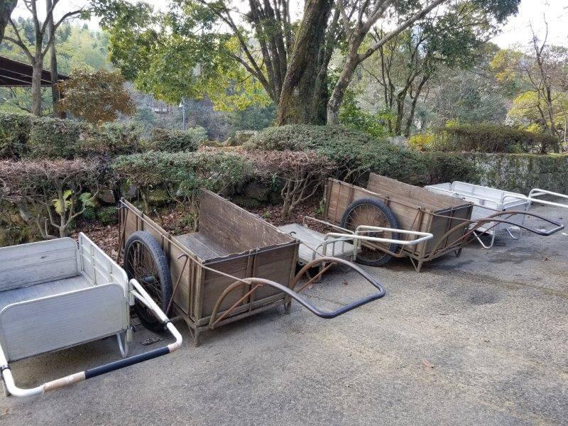 池の山キャンプ場 運搬用リヤカー