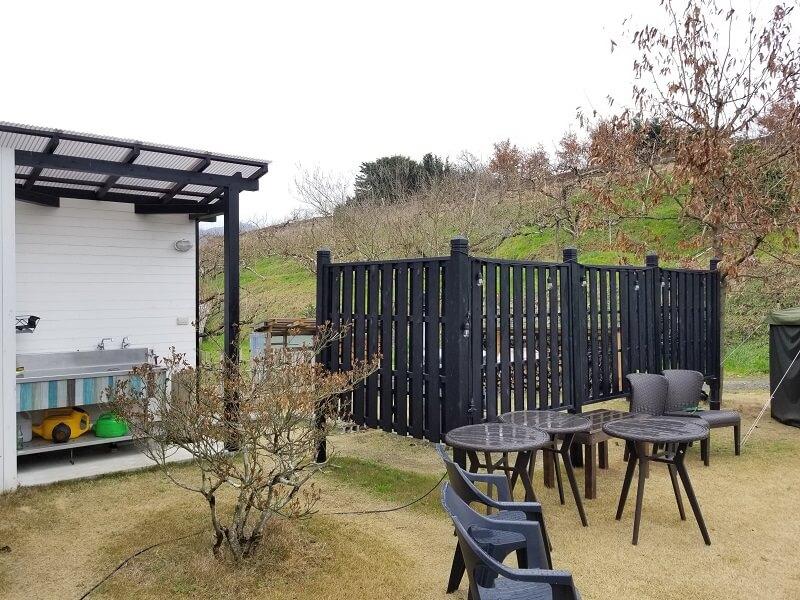 福岡県うきは市 きふねキャンプ場の五右衛門風呂
