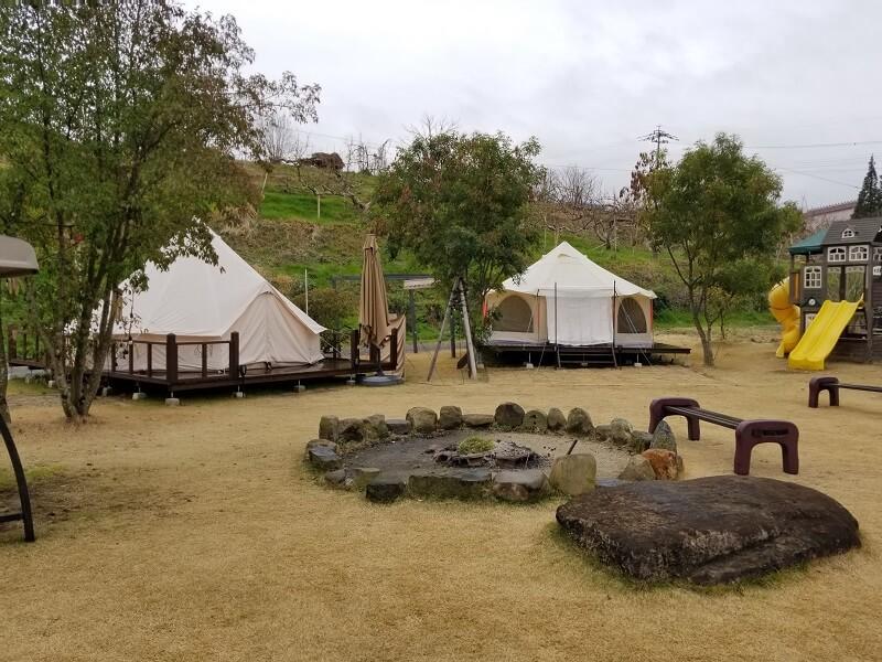 福岡県うきは市 きふねキャンプ場のレンタルテント