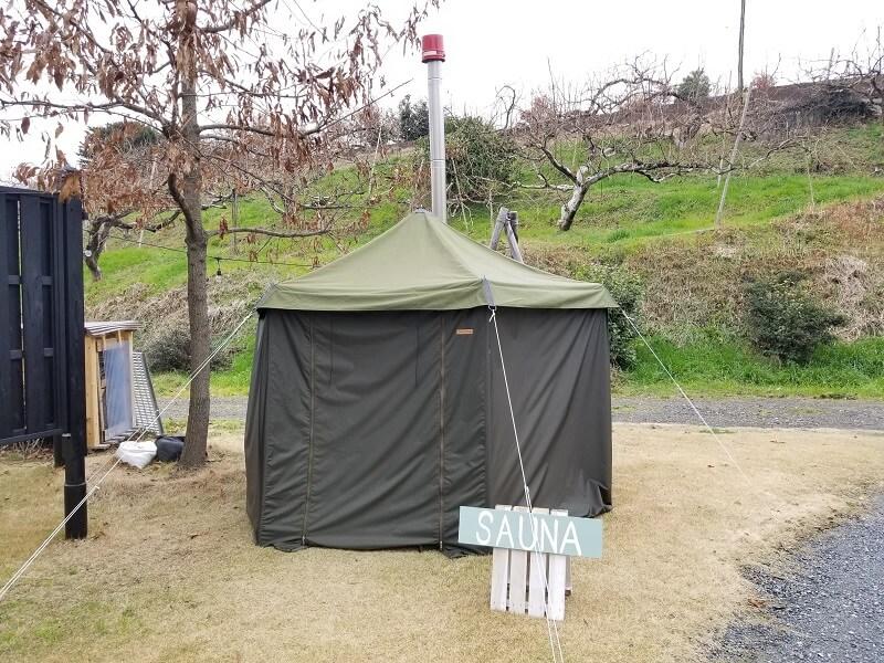 福岡県うきは市 きふねキャンプ場のサウナ