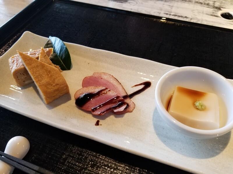 本格十割蕎麦レストラン「きふね」前菜