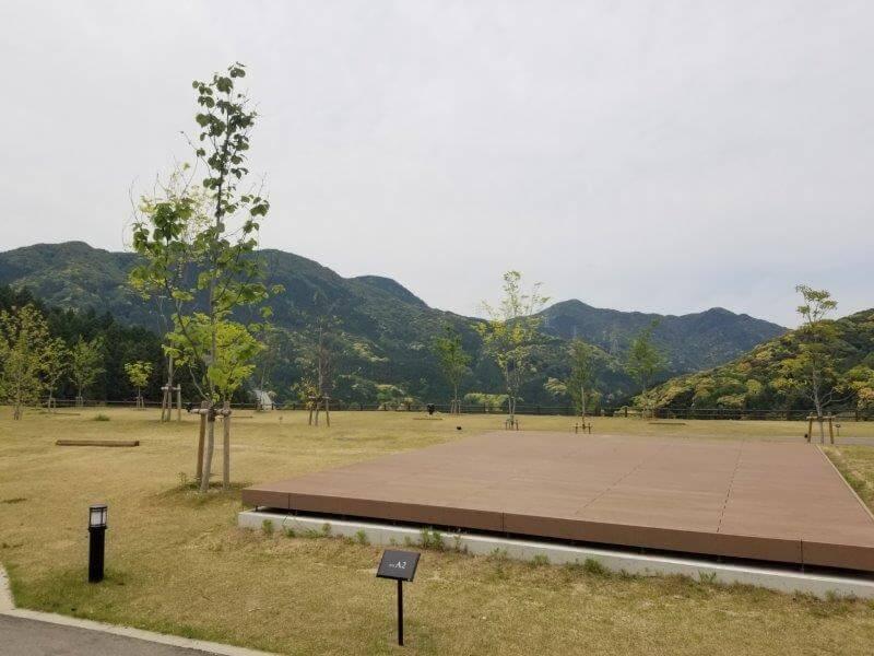 モンベル五ケ山ベースキャンプのAサイト-A2