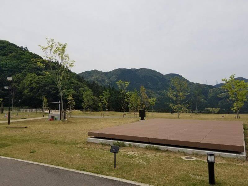 モンベル五ケ山ベースキャンプのAサイト-A3