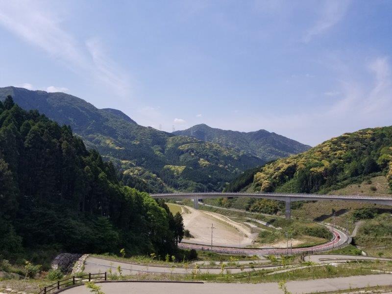 モンベル五ケ山ベースキャンプ Bサイトからの景色
