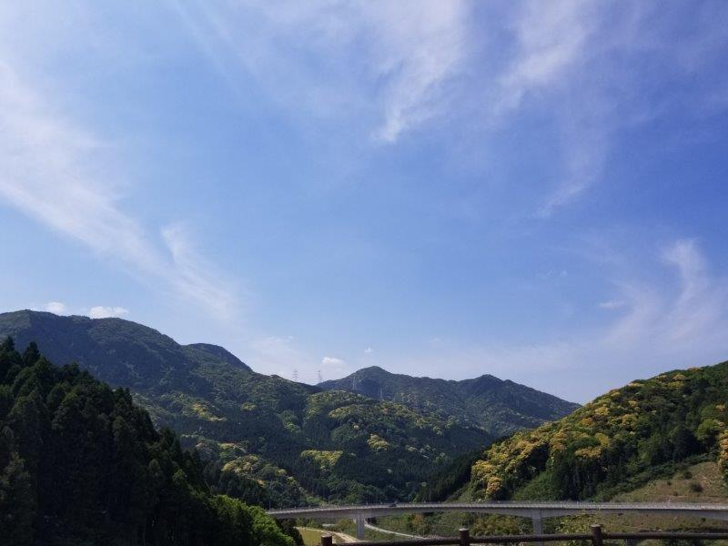 モンベル五ケ山ベースキャンプからの景色