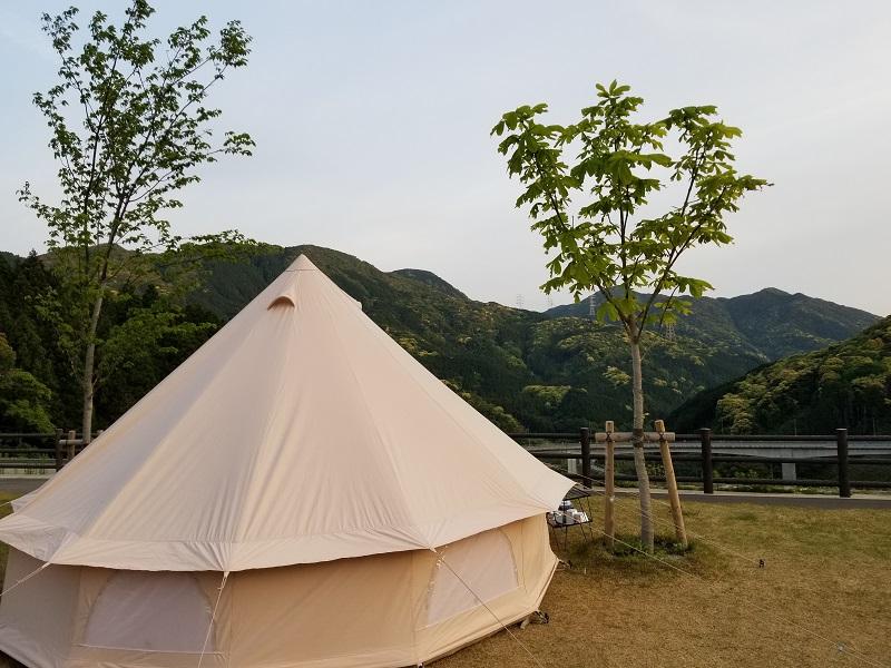 モンベル五ケ山ベースキャンプでテント泊