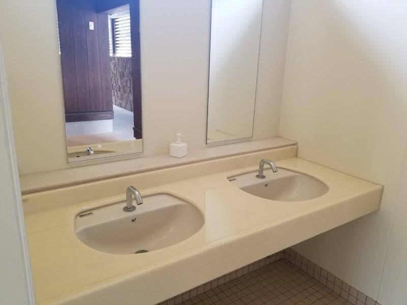 モンベル 五ケ山ベースキャンプ トイレの手洗い場