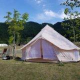 モンベル五ケ山ベースキャンプでテント設営