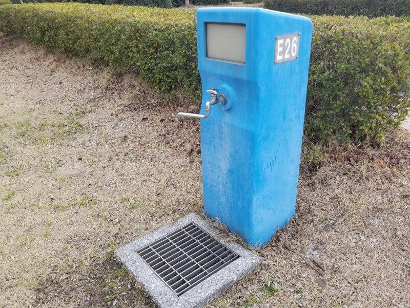 竜王山公園オートキャンプ場 個別サイト E26サイトの水道