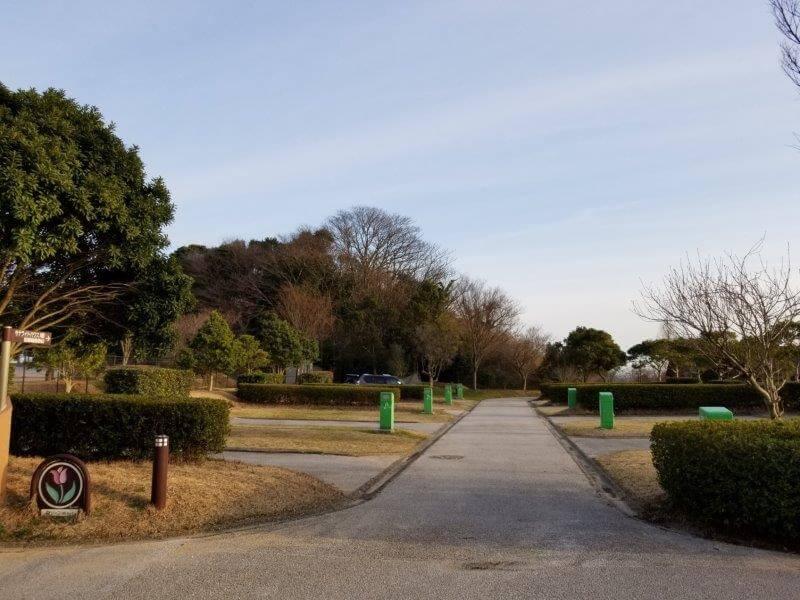 竜王山公園オートキャンプ場 個別サイト B4とD14サイトから