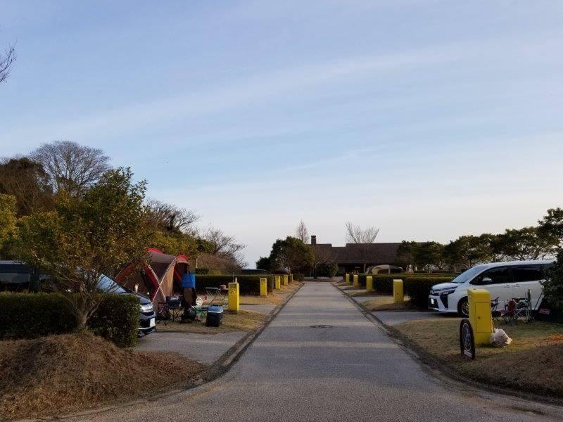竜王山公園オートキャンプ場 個別サイト D18とF29サイトから
