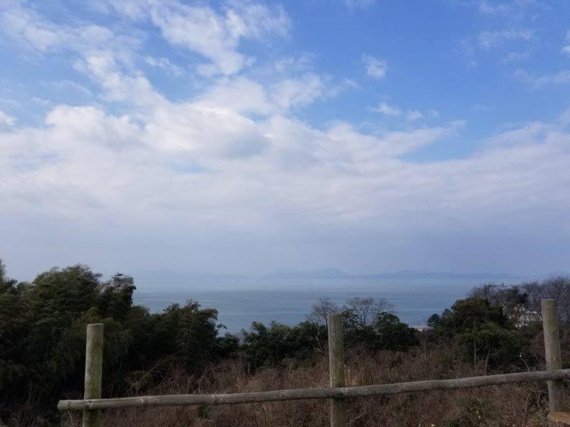 竜王山公園オートキャンプ場 海側ウッドデッキからの眺め