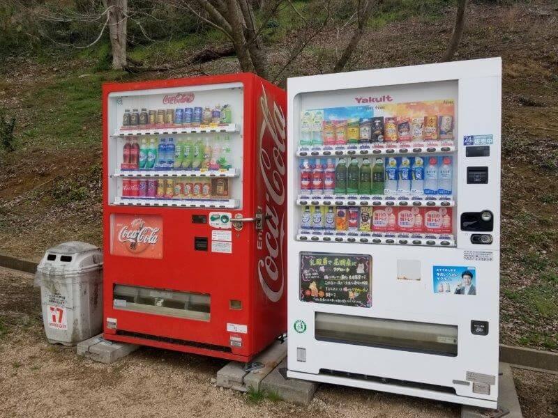 竜王山公園オートキャンプ場の自動販売機