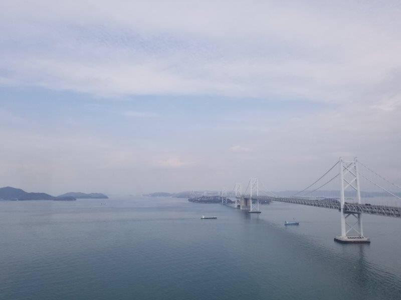 瀬戸大橋タワーから見た瀬戸大橋