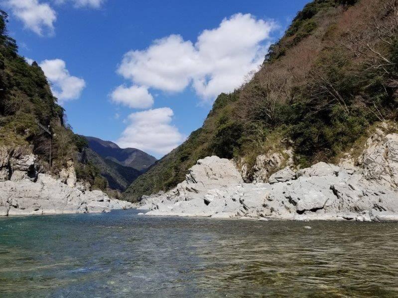 大歩危峡観光遊覧船からの景色