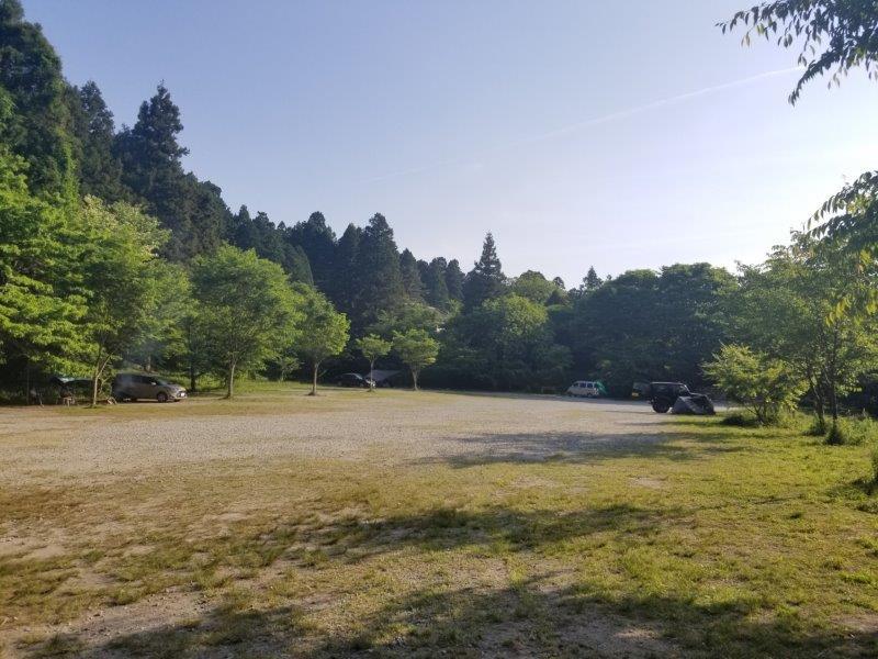 若杉楽園キャンプ場の1番奥からの景色