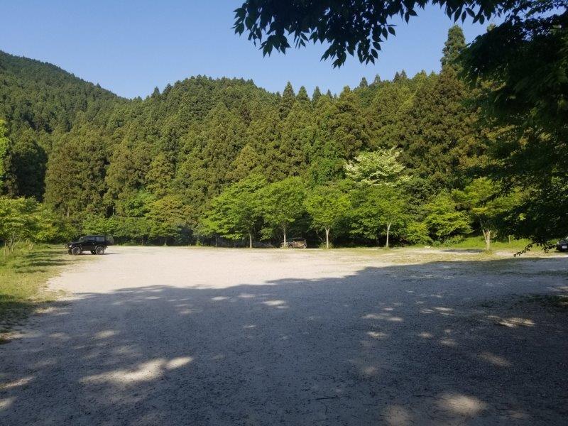 若杉楽園キャンプ場の1番奥のサイト