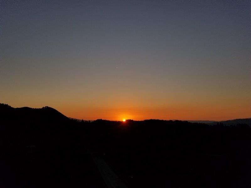 ゆのまえキャンプ場の夕日