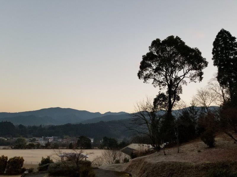 ゆのまえキャンプ場、1月1日の朝