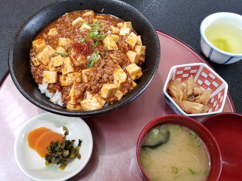 ゆのまえ温泉レストランの麻婆豆腐丼