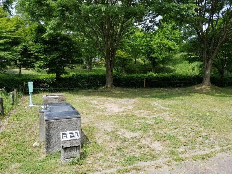 秋吉台オートキャンプ場AサイトのA21