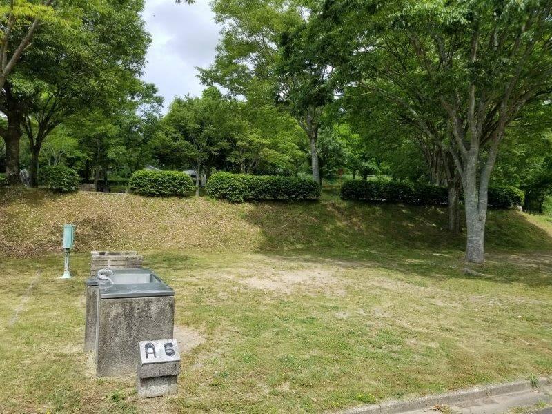 秋吉台オートキャンプ場AサイトのA6