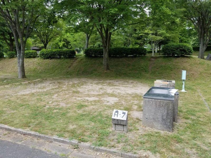 秋吉台オートキャンプ場AサイトのA7