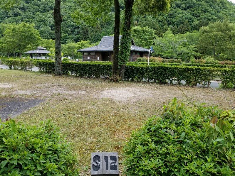 秋吉台オートキャンプ場SサイトのS12