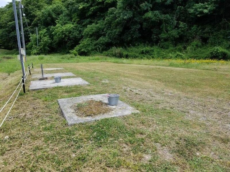 秋吉台オートキャンプ場の花火指定場所