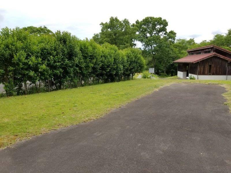 秋吉台家族旅行村のオートサイト1番